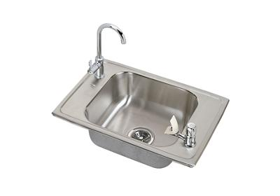 "Image for Elkay Celebrity Stainless Steel 25"" x 17"" x 6-7/8"", Single Bowl Top Mount Classroom Sink and Faucet / Bubbler Kit from ELKAY"