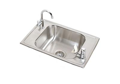 "Image for Elkay Celebrity Stainless Steel 25"" x 17"" x 6-7/8"", Single Bowl Drop-in Classroom Sink and Faucet / Bubbler Kit from ELKAY"