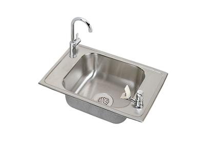 "Image for Elkay Celebrity Stainless Steel 25"" x 17"" x 6-7/8"", Single Bowl Top Mount Classroom Sink and Faucet Kit from ELKAY"