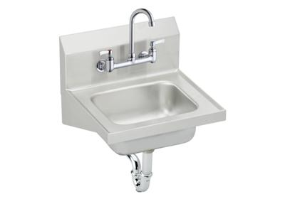 "Image for Elkay Stainless Steel 16-3/4"" x 15-1/2"" x 13"", Single Bowl Wall Hung Handwash Sink Kit from ELKAY"