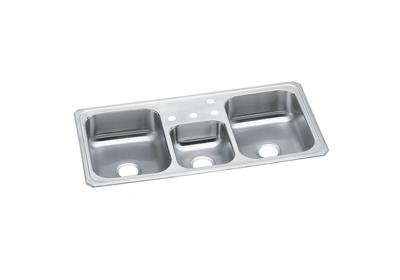 "Image for Elkay Celebrity Stainless Steel 43"" x 22"" x 7"", Triple Bowl Top Mount Sink from ELKAY"