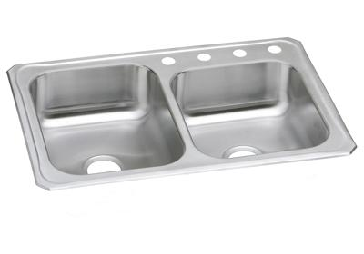 "Image for Elkay Celebrity Stainless Steel 33"" x 22"" x 7-1/4"", Offset Double Bowl Top Mount Sink from ELKAY"