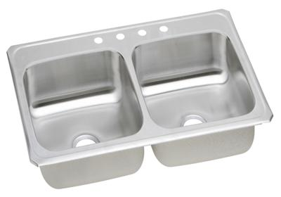 "Image for Elkay Celebrity Stainless Steel 33"" x 21-1/4"" x 6-7/8"", Equal Double Bowl Top Mount Sink from ELKAY"