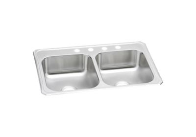 "Image for Elkay Celebrity Stainless Steel 33"" x 22"" x 7"", Equal Double Bowl Top Mount Sink from ELKAY"