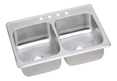 "Image for Elkay Celebrity Stainless Steel 43"" x 22"" x 6-7/8"", Equal Double Bowl Top Mount Sink from ELKAY"