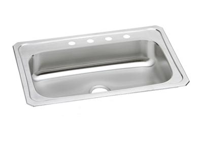 "Image for Elkay Celebrity Stainless Steel 33"" x 22"" x 7"", Single Bowl Top Mount Sink from ELKAY"