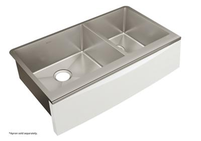 "Image for Elkay Crosstown Stainless Steel 35-7/8"" x 20-5/16"" x 9"" Double Bowl Farmhouse Sink for Interchangeable Apron from ELKAY"