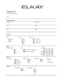 Custom Sink Order Form