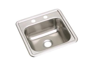 "Image for Dayton Stainless Steel 15"" x 15"" x 5-3/16"", Single Bowl Top Mount Bar Sink from ELKAY"