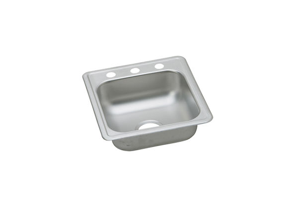 Dayton Stainless Steel Single Bowl Top Mount Bar Sink