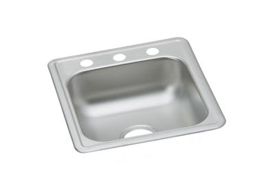 "Image for Dayton Stainless Steel 17"" x 19"" x 6-1/8"", Single Bowl Top Mount Bar Sink from ELKAY"