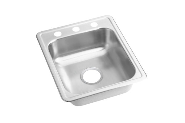 Dayton® Stainless Steel Single Bowl Top Mount Bar Sink