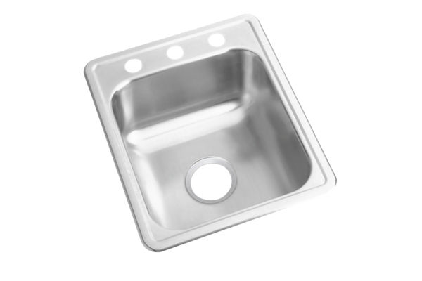 "Dayton Stainless Steel 17"" x 21-1/4"" x 6-1/2"", Single Bowl Top Mount Bar Sink"