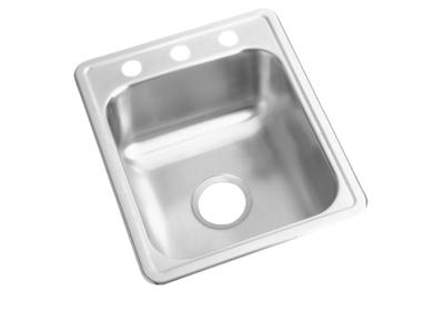 "Image for Dayton Stainless Steel 17"" x 21-1/4"" x 6-1/2"", Single Bowl Top Mount Bar Sink from ELKAY"