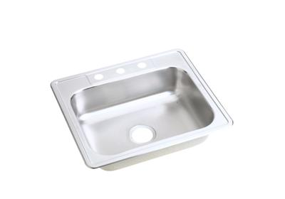 "Image for Dayton Stainless Steel 25"" x 21-1/4"" x 6-9/16"", Single Bowl Top Mount Sink from ELKAY"