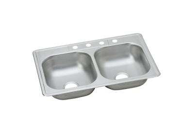 "Image for Dayton Stainless Steel 33"" x 22"" x 6-9/16"", Equal Double Bowl Top Mount Sink from ELKAY"