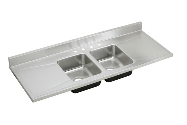 Gourmet (Lustertone) Stainless Steel Double Bowl Sink Top
