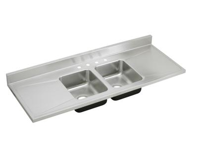 Image for Gourmet (Lustertone) Stainless Steel Double Bowl Sink Top Sink from elkay-consumer
