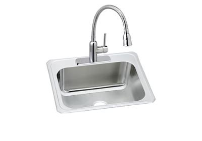 "Image for Elkay Pursuit Stainless Steel 25"" x 22"" x 12-1/4"", Single Bowl Top Mount Sink and Faucet Kit from ELKAY"