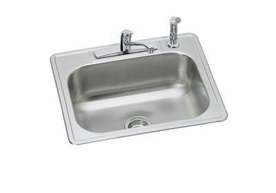 "Image for Dayton Stainless Steel 25"" x 22"" x 7-1/16"", Single Bowl Drop-in Sink and Faucet Kit from ELKAY"
