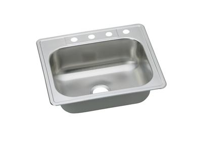 "Image for Dayton Stainless Steel 25"" x 22"" x 7-1/16"", Single Bowl Top Mount Sink from ELKAY"