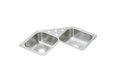 "Image for Dayton Stainless Steel 31-7/8"" x 31-7/8"" x 7"", Equal Double Bowl Corner Sink from ELKAY"