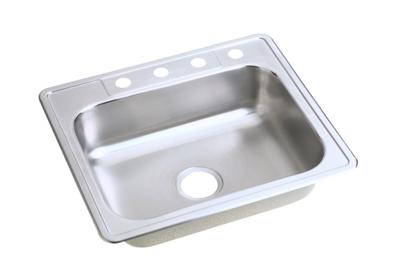"Image for Dayton Stainless Steel 25"" x 22"" x 6-9/16"", Single Bowl Top Mount Sink from ELKAY"