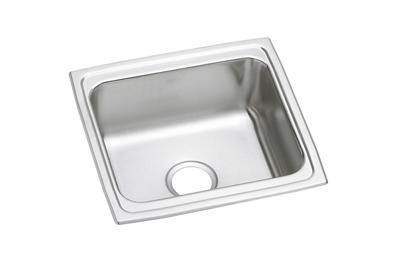 "Image for Elkay Lustertone Stainless Steel 19"" x 18"" x 10-1/8"", Single Bowl Top Mount Bar Sink with Perfect Drain from ELKAY"
