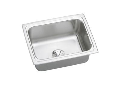"Image for Elkay Lustertone Stainless Steel 25"" x 19-1/2"" x 7-5/8"", Single Bowl Top Mount Sink with Perfect Drain from ELKAY"