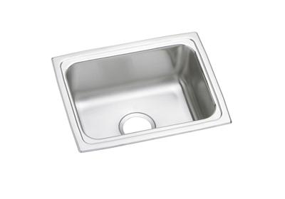 "Image for Elkay Lustertone Stainless Steel 25"" x 19-1/2"" x 10-1/8"", Single Bowl Top Mount Sink from ELKAY"