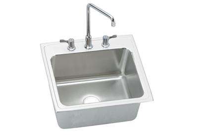 "Image for Elkay Lustertone Stainless Steel 22"" x 22"" x 10-1/8"", Single Bowl Top Mount Sink + Faucet Kit from ELKAY"