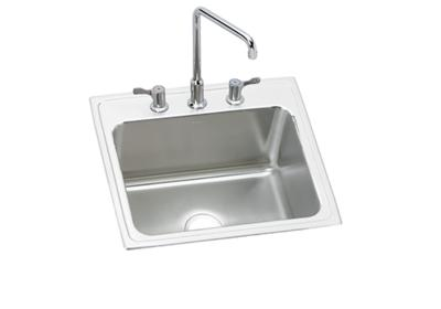 "Image for Elkay Lustertone Stainless Steel 25"" x 22"" x 12-1/8"", Single Bowl Top Mount Sink + Faucet Kit from ELKAY"