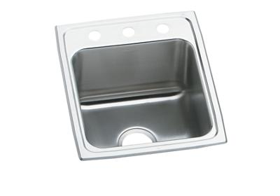 "Image for Elkay Lustertone Classic Stainless Steel 17"" x 20"" x 10-1/8"", Single Bowl Top Mount Sink from ELKAY"