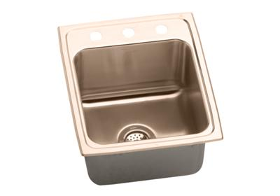 "Image for Elkay CuVerro Antimicrobial Copper 17"" x 22"" x 10-1/8"", Single Bowl Top Mount Sink from ELKAY"