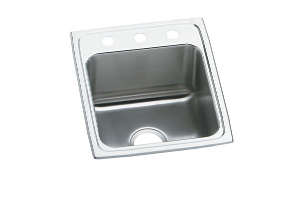 "Elkay Lustertone Stainless Steel 15"" x 22"" x 4"", Single Bowl Top Mount ADA Sink"
