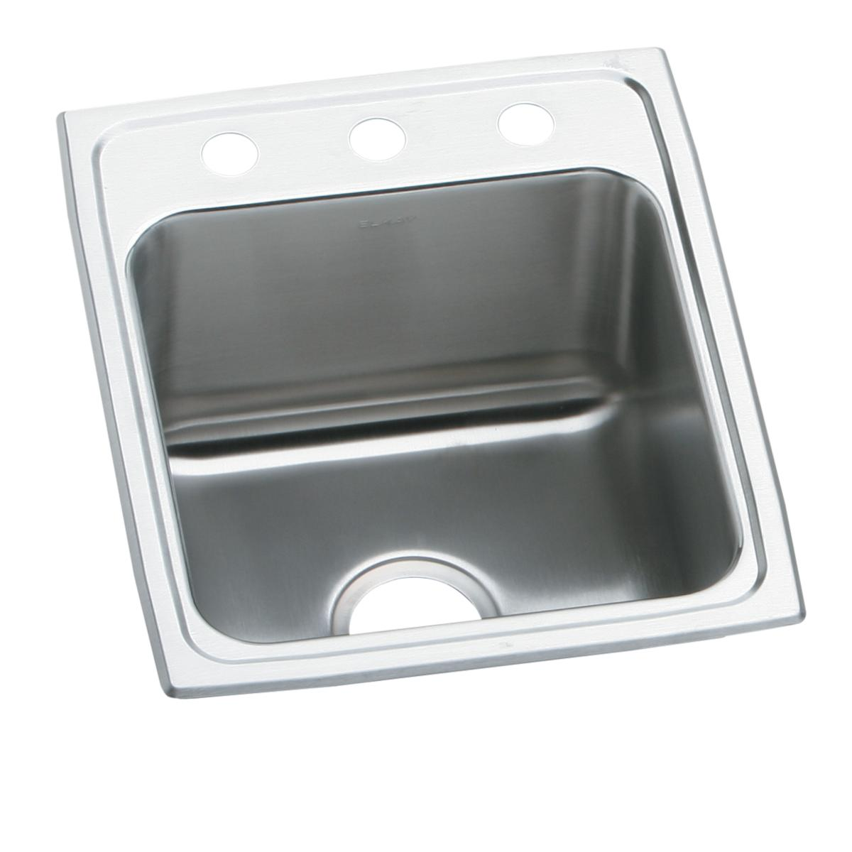 "Elkay Lustertone Classic Stainless Steel 15"" X 22"" X 5-1/2"", Single Bowl Drop-in ADA Sink"