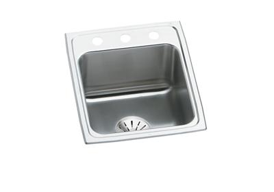 "Image for Elkay Lustertone Stainless Steel 17"" x 22"" x 10-1/8"", Single Bowl Top Mount Sink with Perfect Drain from ELKAY"