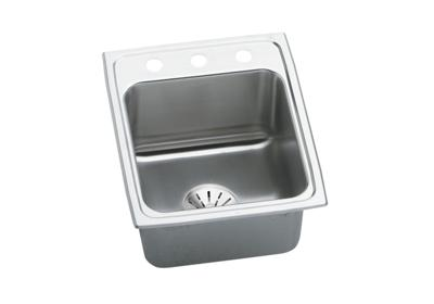 "Image for Elkay Gourmet Stainless Steel 17"" x 22"" x 10-1/8"", Single Bowl Top Mount Sink with Perfect Drain from ELKAY"