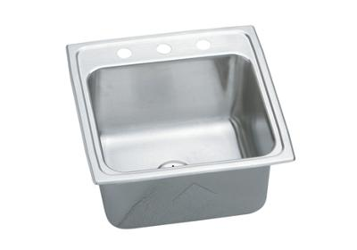 "Image for Elkay Gourmet Stainless Steel 19-1/2"" x 19"" x 10-1/8"", Single Bowl Top Mount Laundry Sink with Perfect Drain from ELKAY"