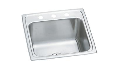 "Image for Elkay Lustertone Stainless Steel 19-1/2"" x 19"" x 10-1/8"", Single Bowl Top Mount Laundry Sink with Perfect Drain from ELKAY"