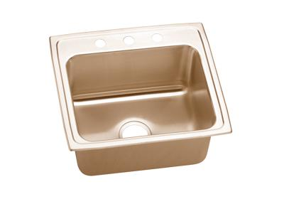 "Image for Elkay CuVerro Antimicrobial Copper 22"" x 19-1/2"" x 10-1/8"", Single Bowl Top Mount Sink from ELKAY"