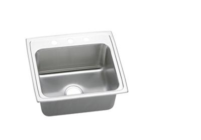 "Image for Elkay Gourmet Stainless Steel 22"" x 19-1/2"" x 10-1/8"", Single Bowl Top Mount Sink from ELKAY"