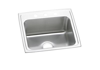 "Image for Elkay Lustertone Stainless Steel 22"" x 19-1/2"" x 10-1/8"", Single Bowl Top Mount Sink from ELKAY"