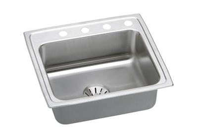 "Image for Elkay Gourmet Stainless Steel 22"" x 19-1/2"" x 10-1/8"", Single Bowl Top Mount Sink with Perfect Drain from ELKAY"