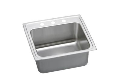 "Image for Elkay Lustertone Stainless Steel 25"" x 21-1/4"" x 10-1/8"", Single Bowl Top Mount Sink with Perfect Drain from ELKAY"