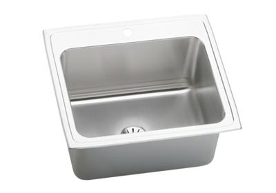 "Image for Elkay Lustertone Stainless Steel 25"" x 22"" x 10-3/8"", Single Bowl Top Mount Sink with Perfect Drain from ELKAY"