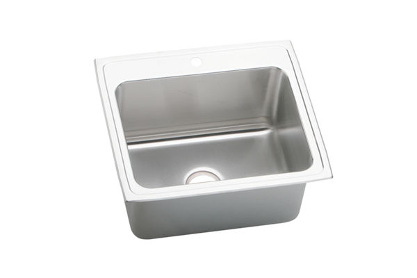"Elkay Gourmet Stainless Steel 25"" x 22"" x 10-3/8"" Single Bowl Top Mount Sink"