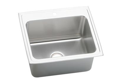 "Image for Elkay Gourmet Stainless Steel 25"" x 22"" x 10-3/8"", Single Bowl Top Mount Sink from ELKAY"