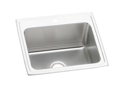 "Image for Elkay Lustertone Stainless Steel 25"" x 22"" x 10-3/8"", Single Bowl Top Mount Sink from ELKAY"