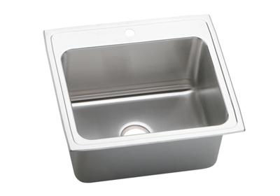 "Image for Elkay Gourmet Stainless Steel 25"" x 22"" x 12-1/8"", Single Bowl Top Mount Sink from ELKAY"